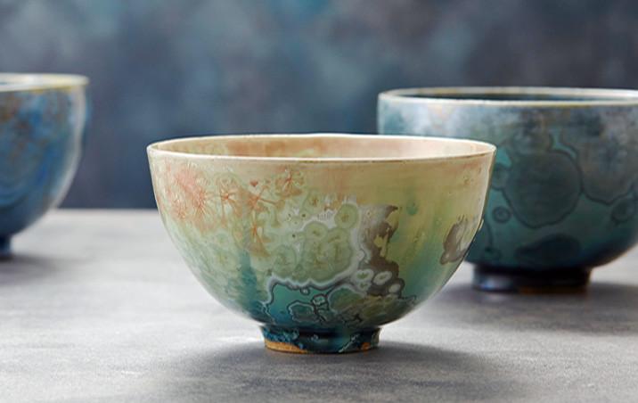 Crystalline Bowls skye zerafa ceramics zen