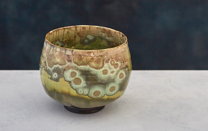 Crystalline Teabowl zerafa ceramics skye