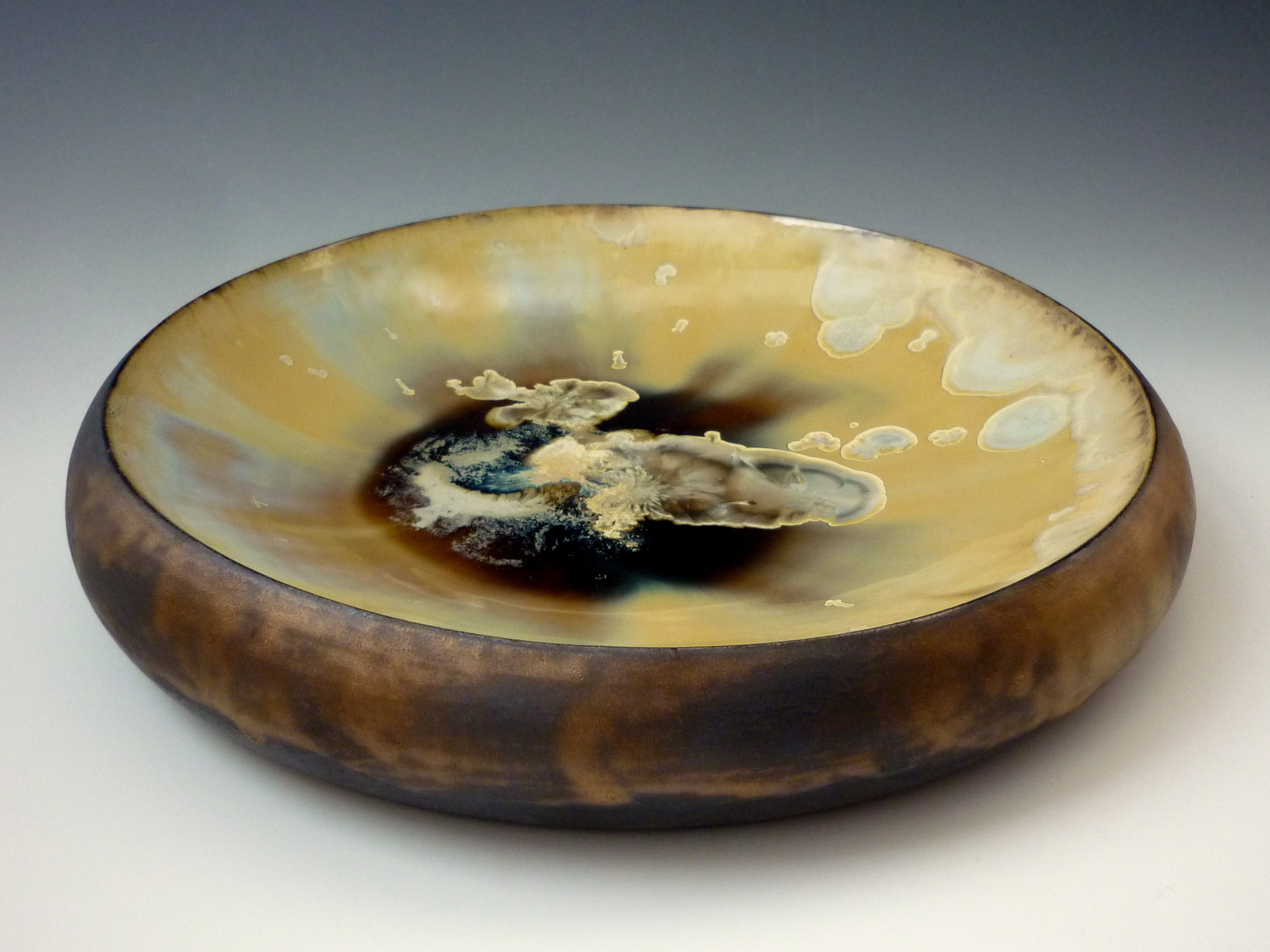 Golden Bowl crystalline ceramics skye maggie zerafa