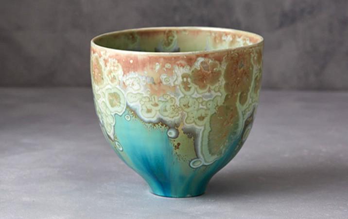 Crystalline vase jade skye zerafa ceramics zen