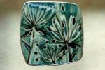 'Green Seedhead' Brooch